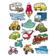 "Comprar Blister 12 h Gomets Temáticos ""Transportes"" Apli 11454 #gomets #manualidades #infantil #niños #diversion #niño #niña #avion coche #cohete"