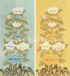 Korean Painting, Painting & Drawing, Drawings, Illustration, Vintage, Paintings, Home Decor, Decoration Home, Paint