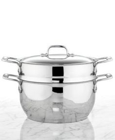 All-Clad Stainless Steel 5 Qt. Covered Multi Pot with Steamer Insert