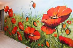 Poppies wall