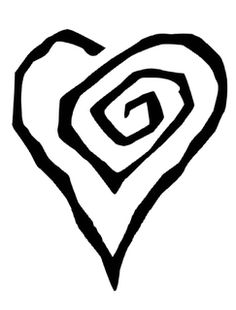 Marilyn Manson spiral heart would look cool as a tattoo on my finger