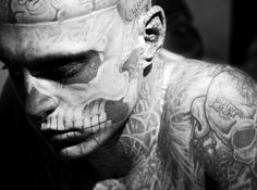 As strange as it may be I am kinda sorta in love with this man, his name is Rick/ Rico/ Zombie boy, and he is a freak show performer/ model/ actor/ everything else.