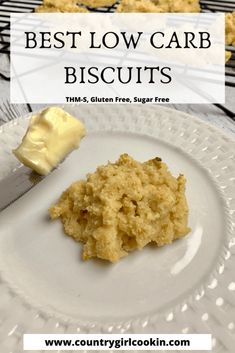 These best low carb biscuits are super yummy! They are gluten free, keto-friendly, slightly crumbly, yet soft and moist. Easy Appetizer Recipes, Healthy Dessert Recipes, Sugar Free Recipes, Low Carb Recipes, Easy Healthy Breakfast, Eating Healthy, Healthy Food, Clean Eating, Baking With Almond Flour