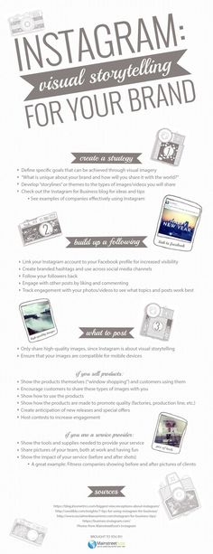 Instagram: Visual Storytelling per il tuo Brand. #infographic #instagram…