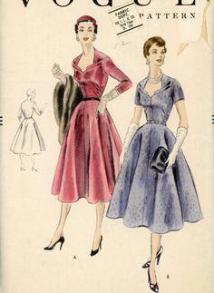 Vogue 8390, ca 1955; Sz 16/Bust 34
