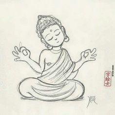 Buddha sketch by: Lotus Buddha, Art Buddha, Buddha Kunst, Buddha Drawing, Buddha Painting, Buddha Buddhism, Buddha Head, Buddhism Tattoo, Buddha Tattoo Design