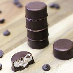 Chocolade bonbons met marshmallowvulling
