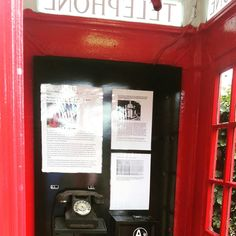 Vintage phone in a London phone booth