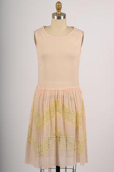 vintage 1920s sheer silk chiffon dress by shopKLAD on Etsy #1920svintage #20sdress