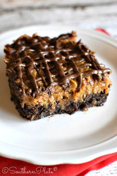 Samoa Brownies - These are AMAZING! (and easy, too!) ~ http://www.southernplate.com