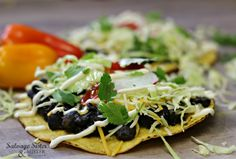 Quick Black Bean Tostada Recipe
