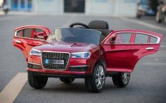 New Exclusive Audi Q7 12V Battery Powered Ride On Car For Kids With LED Wheels and Remote Control   Red