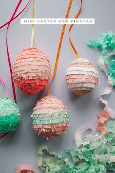 Mini Easter Egg Pinatas DIY | Oh Happy Day!