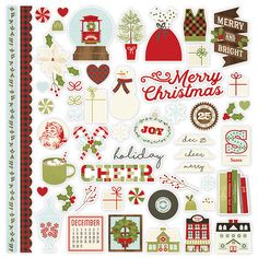 Simple Stories - Classic Christmas Collection - 12 x 12 Cardstock Stickers - Fundamentals at Scrapbook.com