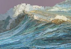 The Rachel's Wave, 2011  Inlaid maps, acrylic on panel  30 x 42 inches#Repin By:Pinterest++ for iPad#