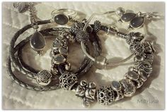 Mon Set Pandora gris Pierre de Lune. #MyPandora #Pandorabracelet #bijouxetcharms