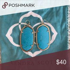 Kendra Scott Turquoise Danielle Kendra Scott Danielle Drop Earrings in Gold Kendra Scott Jewelry Earrings