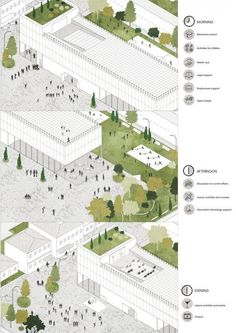 A new network of over 20 schools enlivens public space with programs operating a. - A new network of over 20 schools enlivens public space with programs operating around the clock. Plans Architecture, Architecture Graphics, Architecture Drawings, School Architecture, Architecture Colleges, Public Architecture, Architecture Diagrams, Landscape Design Plans, Landscape Architecture Design