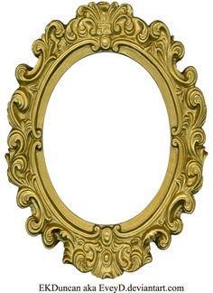 Ornate Gold Frame - Oval 1 by ~EveyD on deviantART