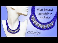 (12) How to flat beaded kumihimo necklace - YouTube