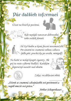 Svatební noviny – Sekerka Tomáš Diy And Crafts, Wedding Planning, How To Plan, Program, Weddings, Straws, Dusty Rose Wedding, Mariage, Wedding