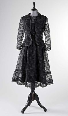 Audrey Hepburn's Givenchy Haute Couture black chantilly lace ensemble (dress and jacket), worn in 'How to steal a million' | France, 1966 | Kerry Taylor Auctions
