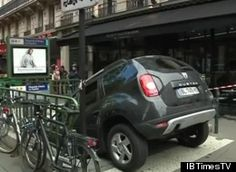 oops. >> Driver Mistakes Paris Metro For Parking Garage