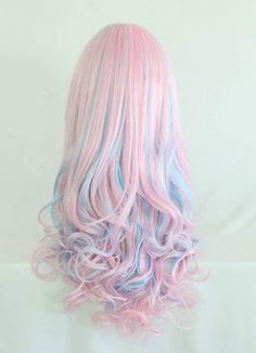 Nice Colored Hair with Curls at the Ends
