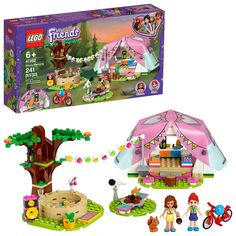 Buy LEGO Friends - Nature Glamping at Mighty Ape NZ. Develop kids' love of the wild with this cute camping playset! Encourage kids' zest for the outdoors with this LEGO® Friends Nature Glamping . Camping Toys, Camping Set, Best Birthday Gifts, Birthday Fun, Lego Duplo, Lego Ninjago, Lego Sets, Legos, Camping Glamour