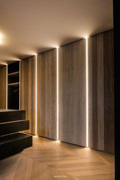 Home Interior Apartment Belgiqa_Parket_Hongaarse_Punt Design Entrée, Flur Design, Plafond Design, Lobby Design, Wall Design, House Design, Ikea Design, Design Ideas, Showroom Design