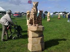 Chainsaw Carving - Living Heritage series of Game and Country Shows
