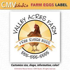 Printable Egg Carton Labels by CMVstudio on Etsy, << new design for my backyard hen peeps!
