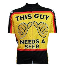 cycling jerseys New This Guy Needs A Beer Alien SportsWear Mens Cycling  Jersey Cycling Clothing Bike 638ad5aef