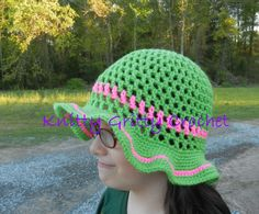 Hand Crocheted Sun Hat