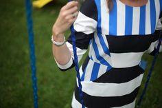 #navy #vacation #stripes #blueandwhite #dress