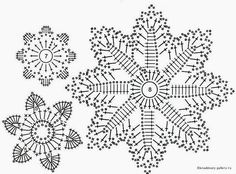 Irish lace, crochet, crochet patterns, clothing and decorations for the house, crocheted. Irish Crochet Patterns, Crochet Snowflake Pattern, Crochet Leaves, Crochet Stars, Crochet Motifs, Crochet Snowflakes, Crochet Diagram, Thread Crochet, Crochet Doilies