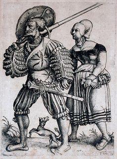 German hats - 1470-1536 - Landsknecht with his Wife