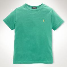 Polo by Ralph Lauren - Solid Cotton Crewneck Tee - SS - Biscay Green - $18.00 - size:  7