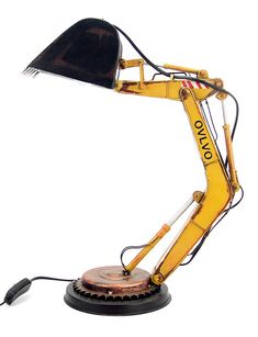 Details about Desk Lamp Loft Excavator tin tinplate metal model handmade Cool Lamps, Tiffany Lamps, Metal Models, Pipe Lamp, Bedroom Lamps, Tin Toys, Toy Sale, Lamp Light, Table Lamp