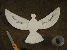 Dove from Paper Plate
