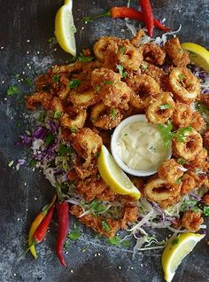 SPICY DEEP-FRIED CALAMARI [theforkbite]