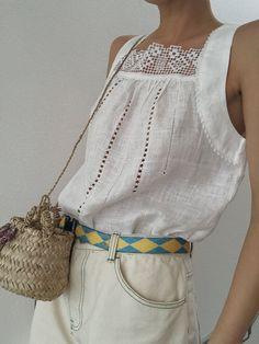 Plaid Fashion, Boho Fashion, Fashion Outfits, Womens Fashion, Mode Style, Victorian Fashion, Clothes For Women, Linen Tops, Flax Plant