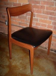 Handsome 1960's teak dining chair - fantastic design, reminiscent of a couple Moller designs - excellent condition - only 1 available - $200