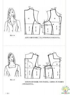 Blusa Dress Sewing Patterns, Blouse Patterns, Clothing Patterns, Bodice Pattern, Collar Pattern, Top Pattern, Formation Couture, Sewing Collars, Sewing Blouses
