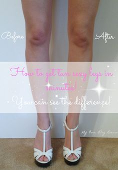 I will show you the best way to obtain tan, sexy legs in minutes using Airbrush Legs by Sally Hansen.