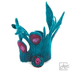 Wearable fiber art textile Bracelet. Poppies in petrol green blue grass. OOAK woman accessory. Crafted Felt Jewelry made in France / Paris Amazing fiber art to wear; this beautiful bracelet made from finest merino wool fibers and free motion stitching spices up any outfit! Raspberry