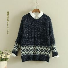 Buy 'Storyland � Patterned Cable-Knit Sweater' with Free International Shipping at YesStyle.com. Browse and shop for thousands of Asian fashion items from China and more!