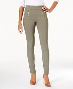 INC Curvy-Fit Skinny Pants, Created for Macy's - Purple 16