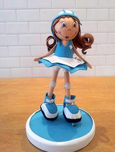 Muñeca patinadora de Goma eva o Foamy