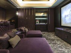 Cinema room in Kensington mansion